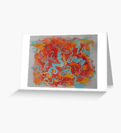 Primary Monotype Greeting Card