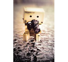 Danbo and Camera Photographic Print
