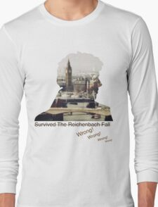 I survived Reichenbach - WRONG! Long Sleeve T-Shirt