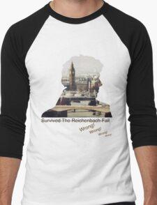 I survived Reichenbach - WRONG! Men's Baseball ¾ T-Shirt