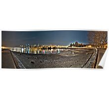Stanley Park & Vancouver @ Night (HDR Panorama) Poster