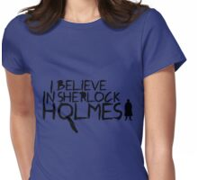 I Believe In Sherlock V.2 (black) Womens Fitted T-Shirt