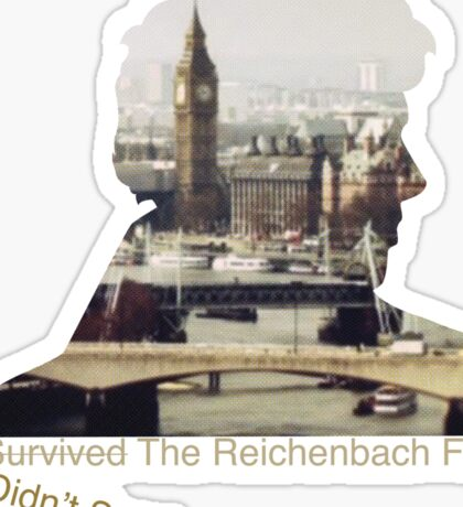I didn't survive the Reichenbach Fall Sticker