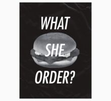 What She Order? Fish Fillet / Uppercase by slicemike