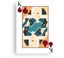 Khaleesi Playing Card / Drogon Canvas Print