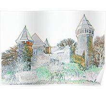 Linn Castle in Krefeld, NRW, Germany. Poster