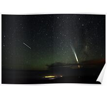 Magnificent Comet Lovejoy and the Space Station Poster