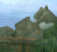 Cadgwith Rooftops by Stephen Mitchell