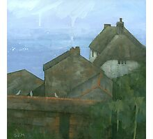 Cadgwith Rooftops Photographic Print