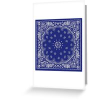 Blue Bandana  Greeting Card