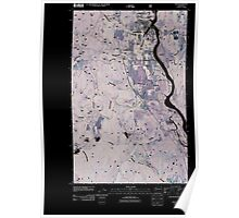 USGS Topo Map Washington State WA Ione 20110428 TM Inverted Poster