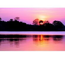 Sunset on Kafue River, Zambia Photographic Print