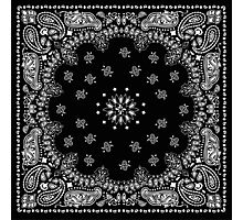 Black Bandana  Photographic Print