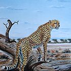 A Painting of African Cheetah on hunting mission by Mutan