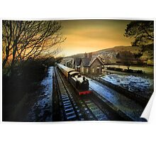 Sunrise in Hawes  Poster