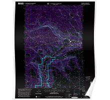 USGS Topo Map Washington State WA Klickitat 241791 2000 24000 Inverted Poster