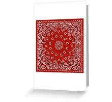 Red Bandana Greeting Card