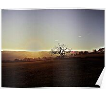 Sunset over Mayfield Valley, Sheffield Poster