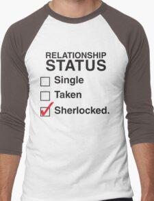 SINGLE TAKEN SHERLOCKED Men's Baseball ¾ T-Shirt
