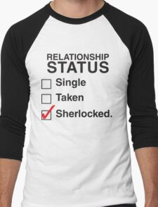 SINGLE TAKEN SHERLOCKED Men's Baseball ¾ T-Shirt