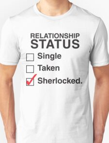 SINGLE TAKEN SHERLOCKED Unisex T-Shirt