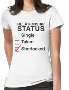 SINGLE TAKEN SHERLOCKED Womens Fitted T-Shirt