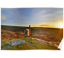 Cornwall: Sunset Halo at The Prince of Wales Engine House Poster