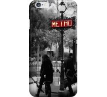 Paris Metro Entrance-Paris, France iPhone Case/Skin