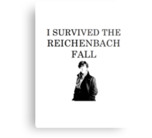 I survived the Reichenbach fall Metal Print