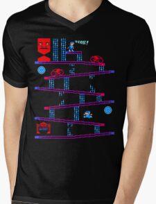 DONKEY TRON Mens V-Neck T-Shirt