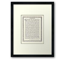Gothic DESIDERATA Framed Print