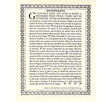 Gothic DESIDERATA Photographic Print