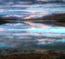 Morning Reflections On Loch Leven by Aj Finan