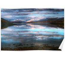 Morning Reflections On Loch Leven Poster