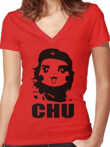 CHU Women's Fitted V-Neck T-Shirt