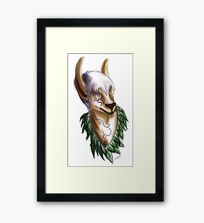 Is that a Deer DOE? Framed Print