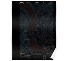 USGS Topo Map Washington State WA Manson 20110601 TM Inverted Poster