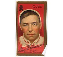 Benjamin K Edwards Collection George F Graham Chicago Cubs baseball card portrait Poster