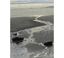 Shapes on a winters shoreline Photographic Print
