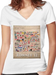 We the people, Romney 2012 Women's Fitted V-Neck T-Shirt