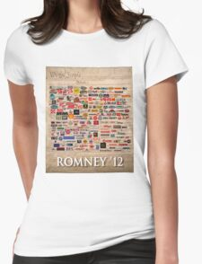We the people, Romney 2012 Womens Fitted T-Shirt