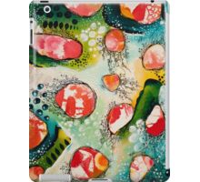 Abstract Painting - Drifting in Turquoise iPad Case/Skin
