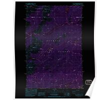 USGS Topo Map Washington State WA Mt Washington 242725 1985 24000 Inverted Poster