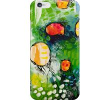 Abstract Painting - Drifting in Green  iPhone Case/Skin