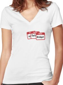 YoSafBridget Women's Fitted V-Neck T-Shirt