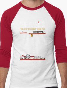 Dark Background w Red Dot Men's Baseball ¾ T-Shirt