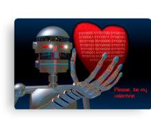 Be My Valentine Robot Canvas Print