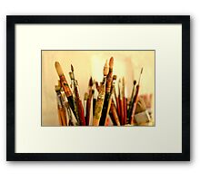 Paint Brushes. Framed Print