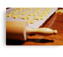 Baking cookies. Canvas Print