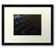 Keyboard by Carrie Framed Print